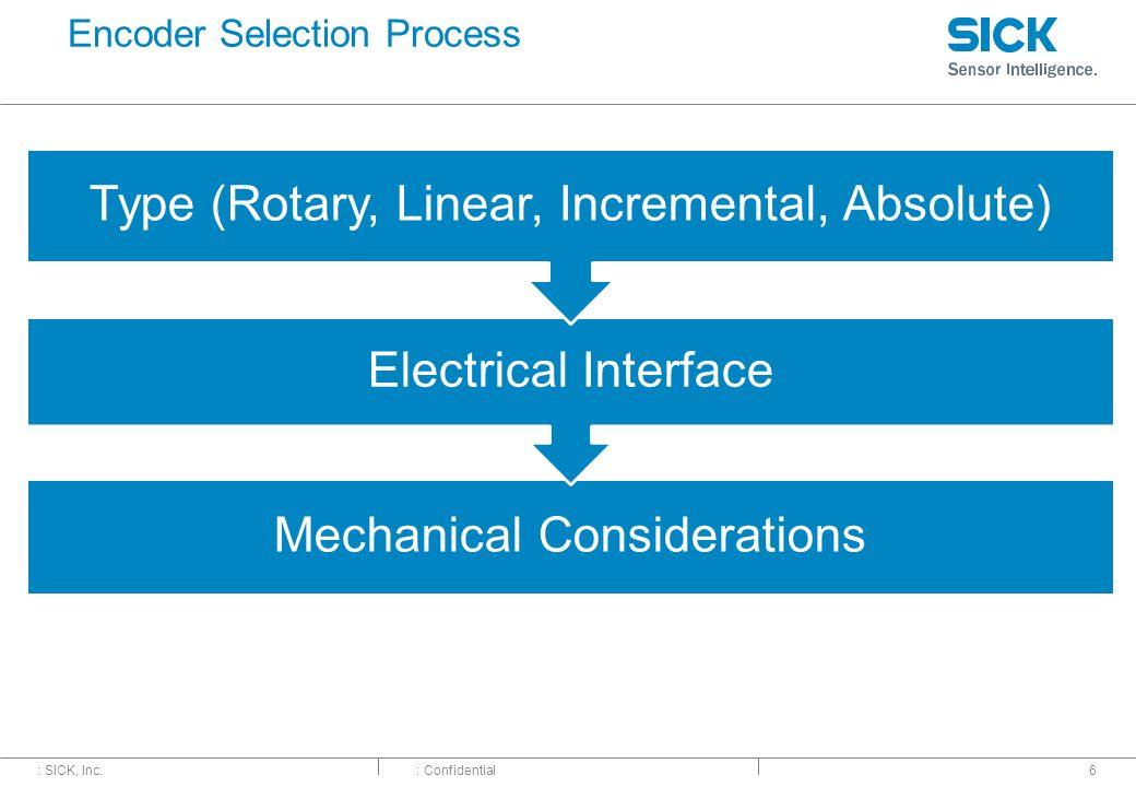 Encoder Selection Process
