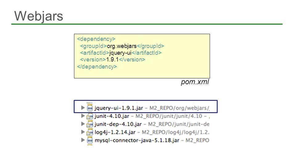 Webjars pom.xml <dependency>