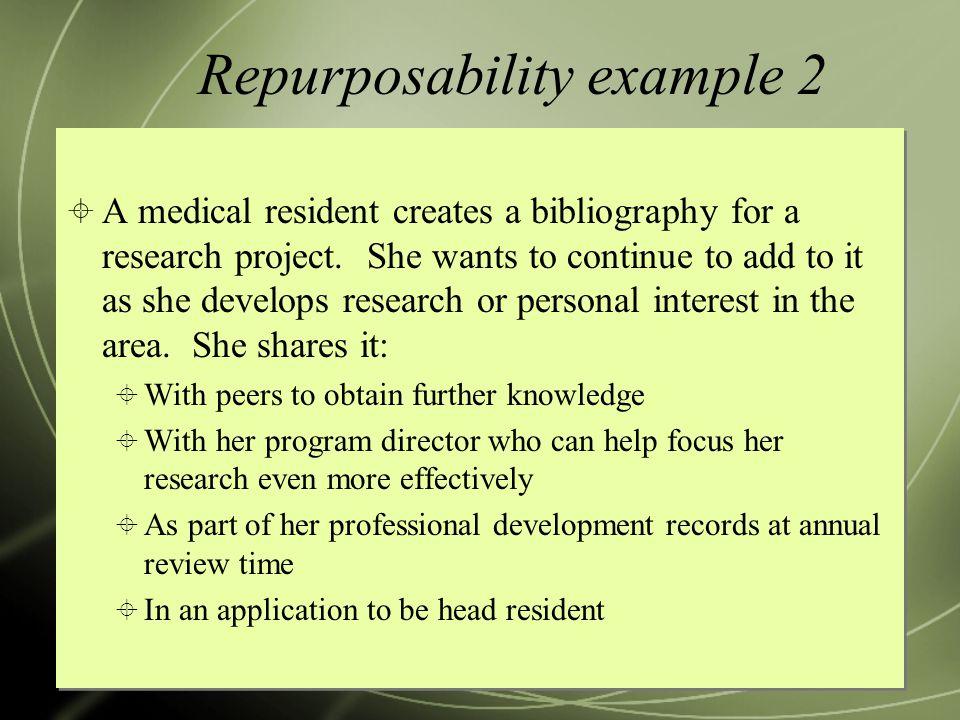 Repurposability example 2