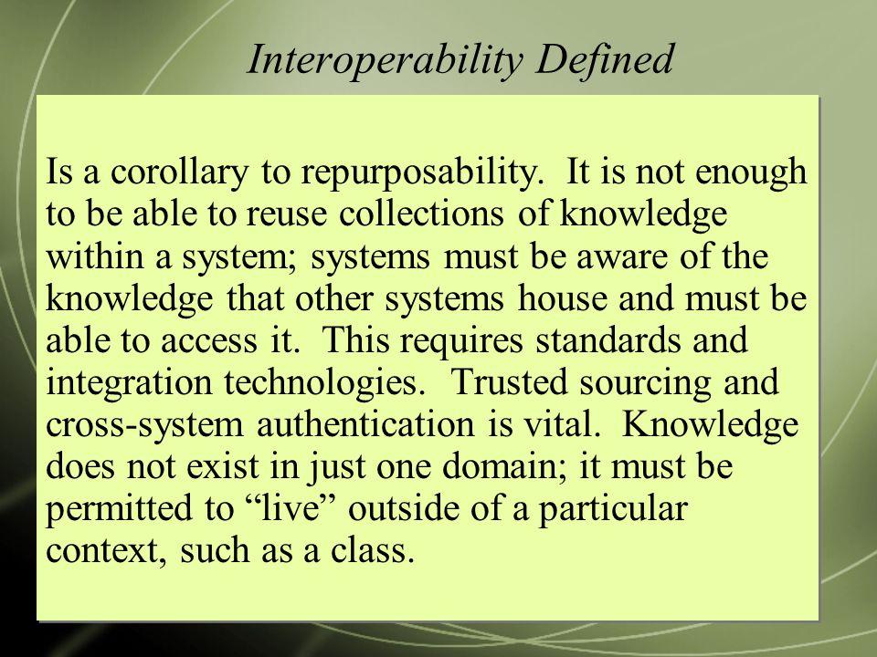 Interoperability Defined