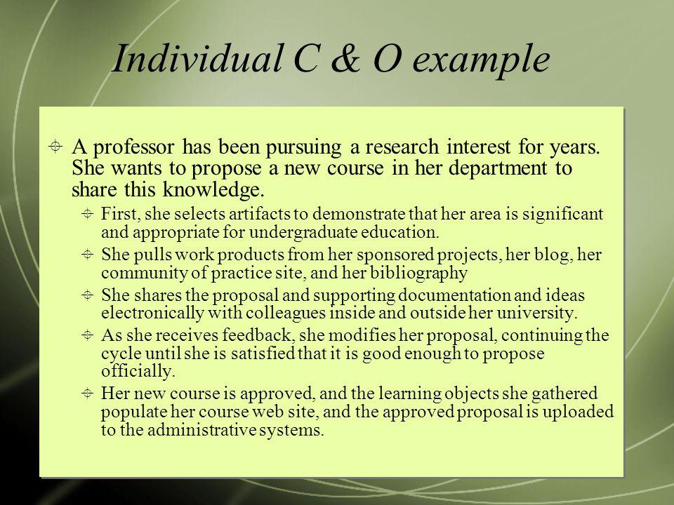 Individual C & O example