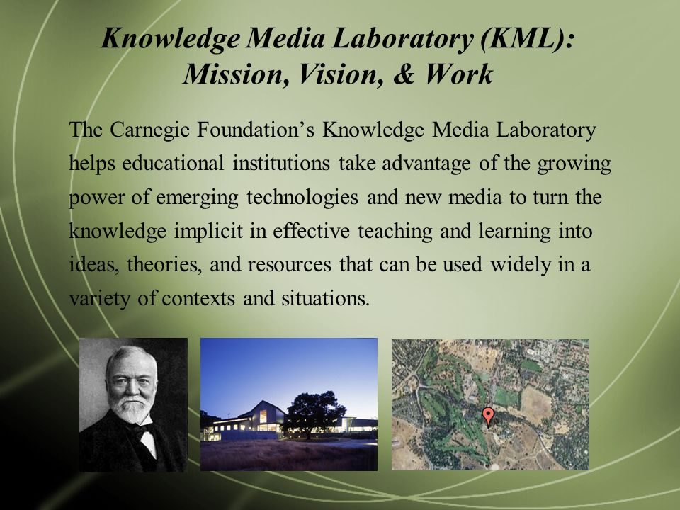 Knowledge Media Laboratory (KML): Mission, Vision, & Work