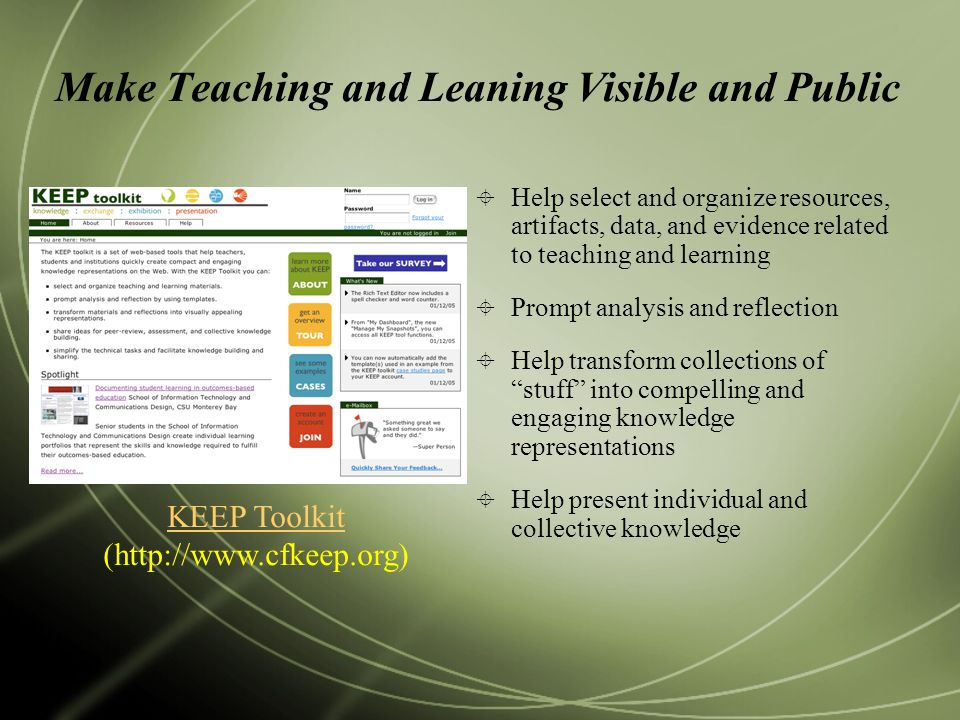 Make Teaching and Leaning Visible and Public