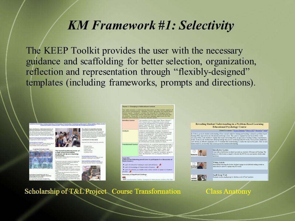 KM Framework #1: Selectivity