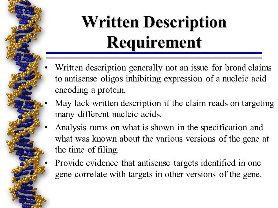 Written Description Requirement
