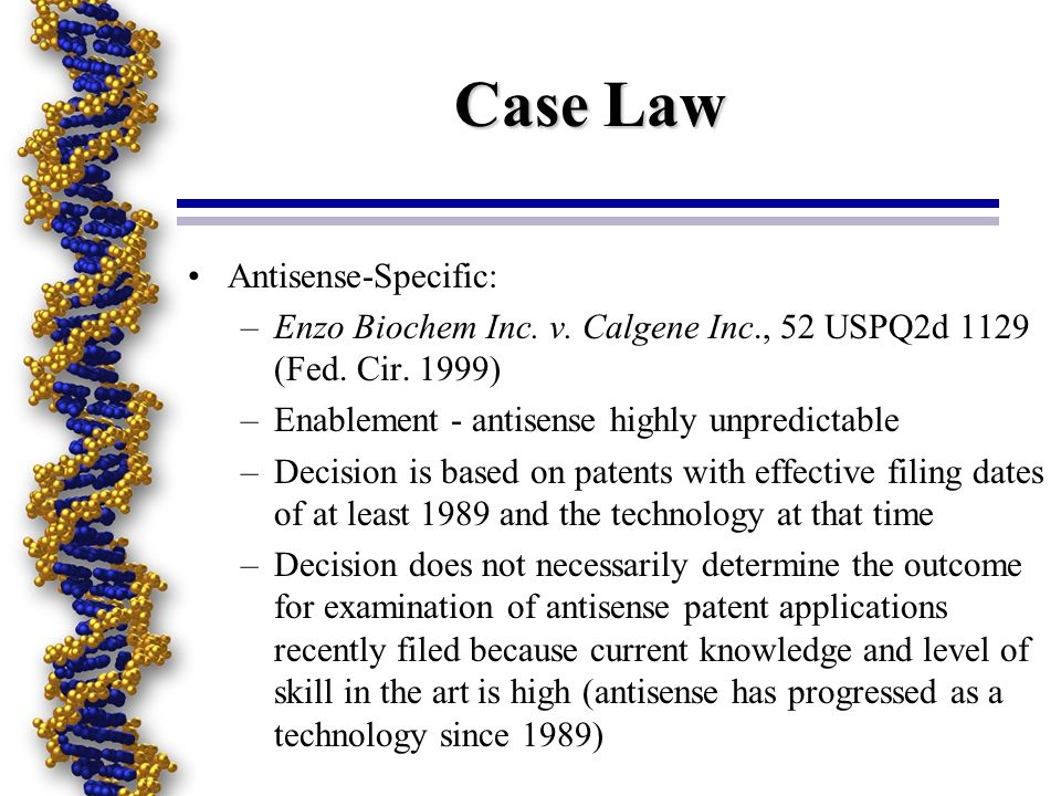 Case Law Antisense-Specific:
