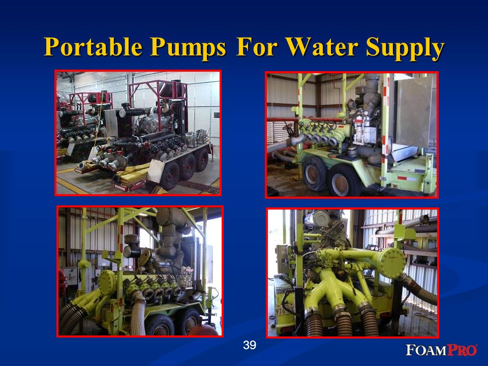 Portable Pumps For Water Supply