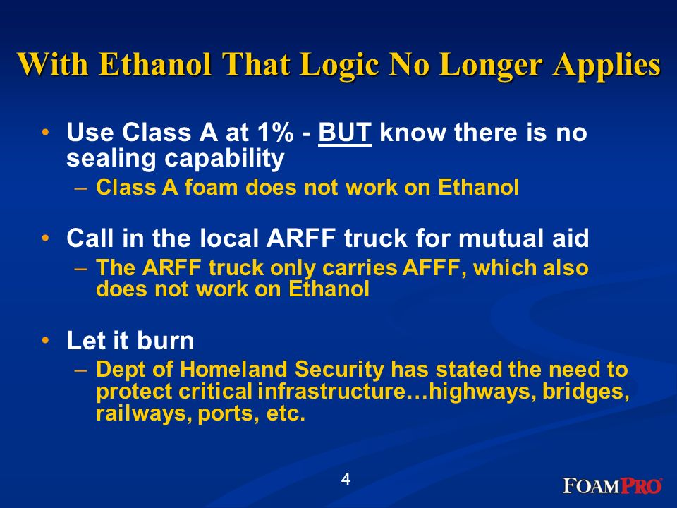 With Ethanol That Logic No Longer Applies