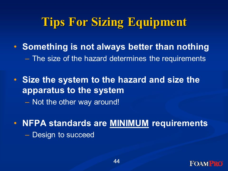 Tips For Sizing Equipment