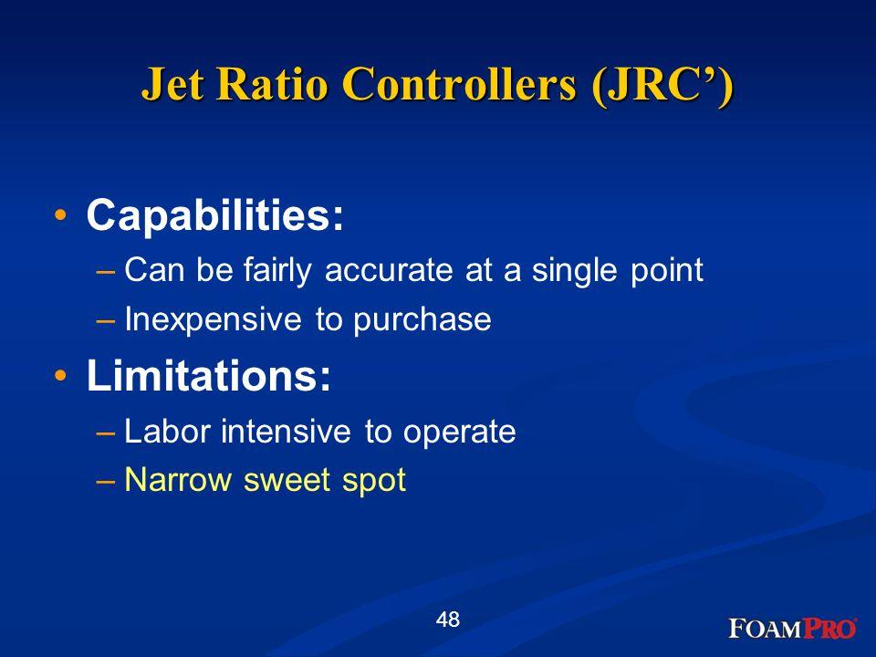 Jet Ratio Controllers (JRC')
