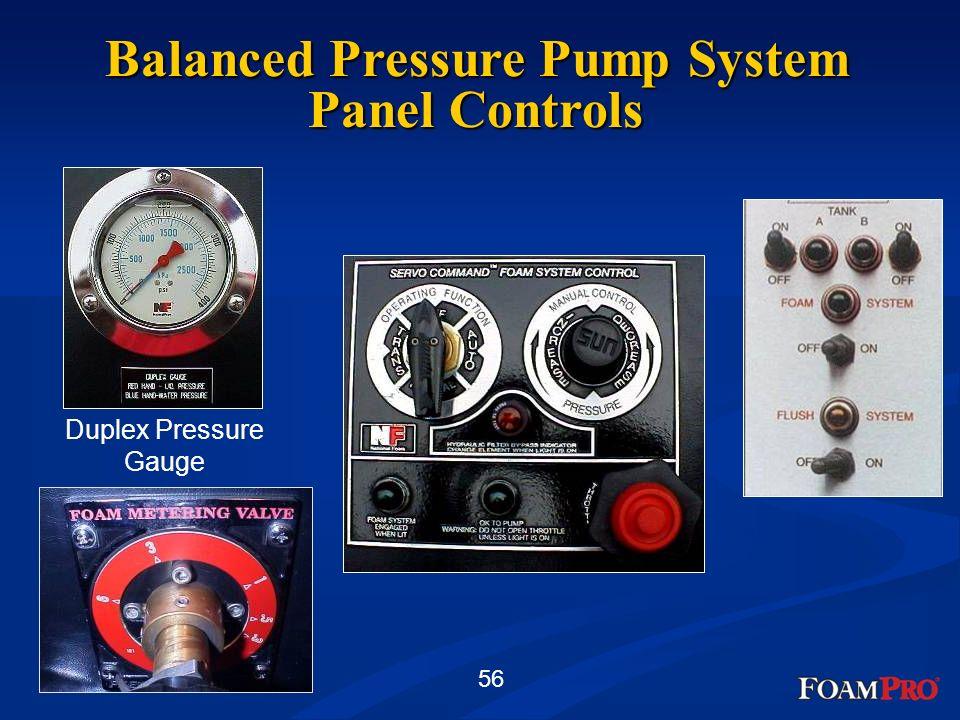 Balanced Pressure Pump System Panel Controls