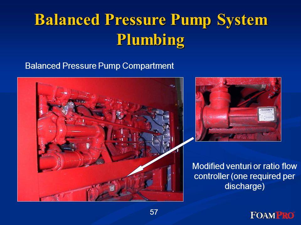Balanced Pressure Pump System Plumbing