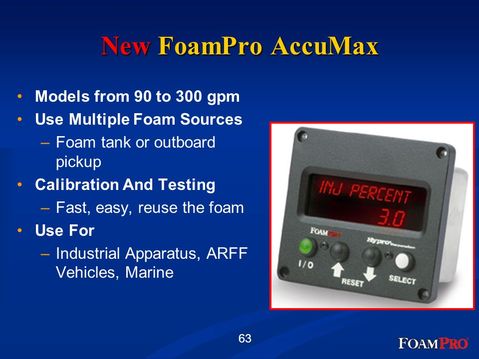 New FoamPro AccuMax Models from 90 to 300 gpm