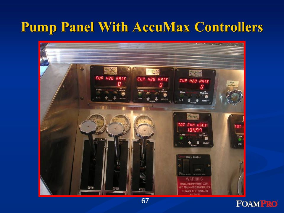 Pump Panel With AccuMax Controllers