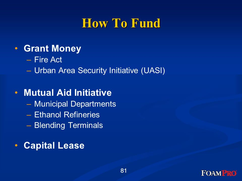 How To Fund Grant Money Mutual Aid Initiative Capital Lease Fire Act