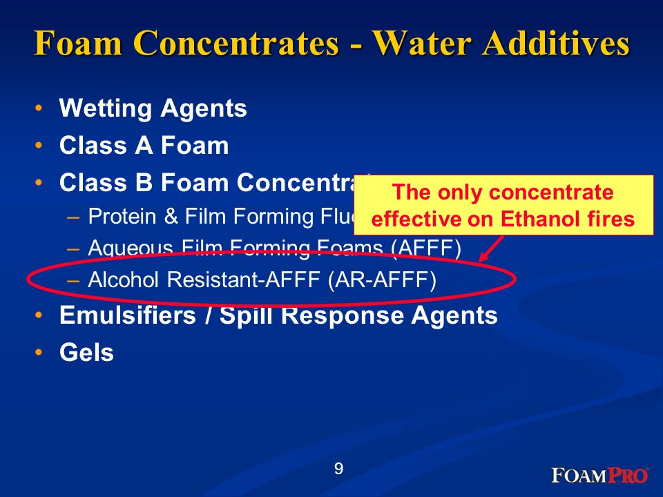 Foam Concentrates - Water Additives