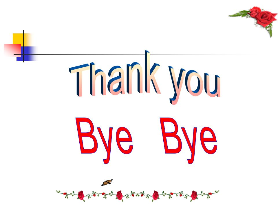 Thank you Bye Bye