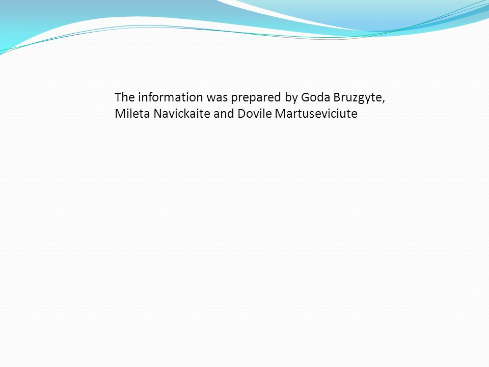 The information was prepared by Goda Bruzgyte,