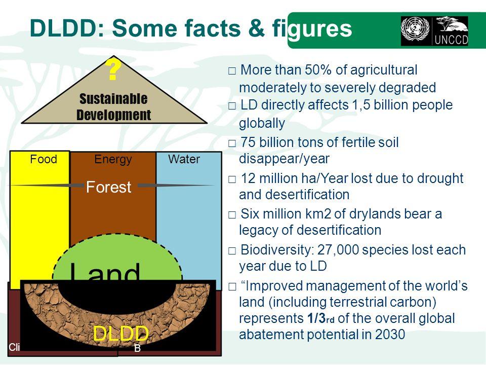 Land DLDD: Some facts & figures DLDD Forest Sustainable Development
