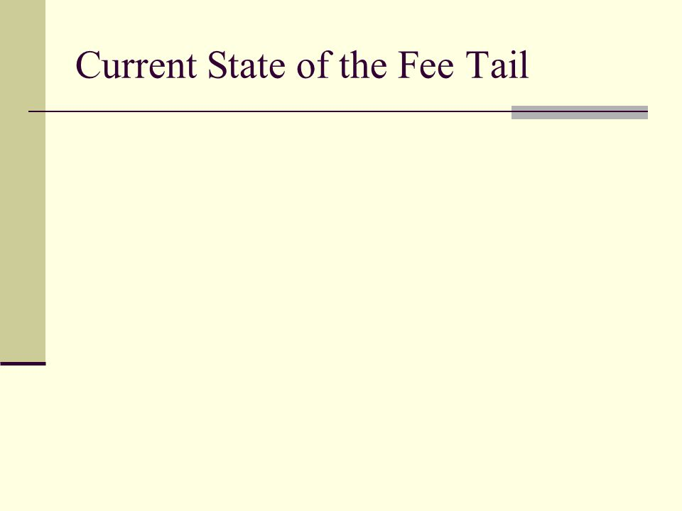 Current State of the Fee Tail