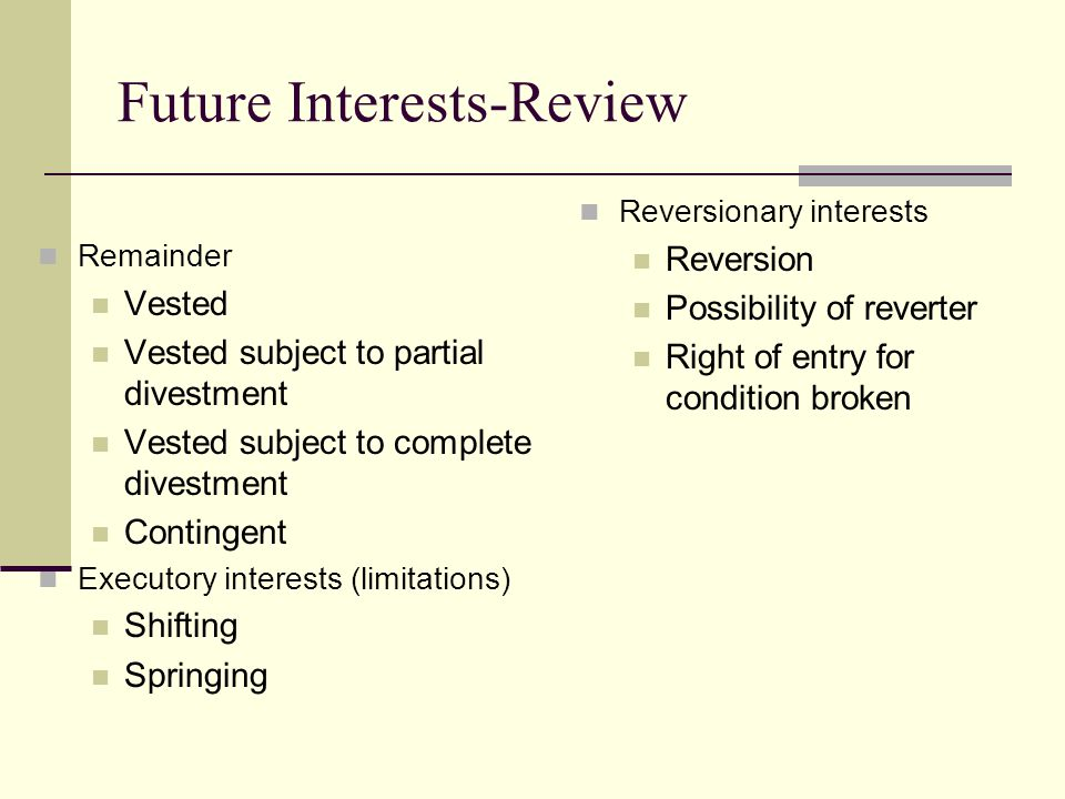Future Interests-Review