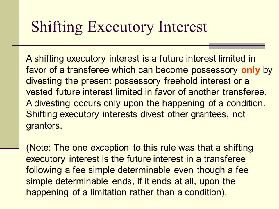 Shifting Executory Interest