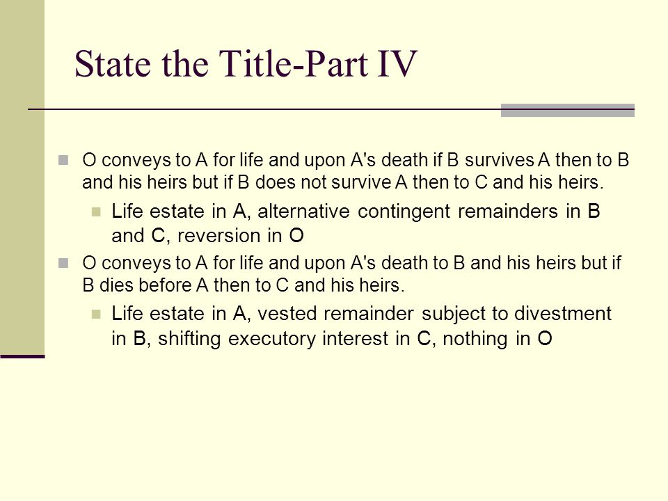 State the Title-Part IV