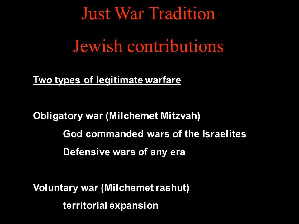 Just War Tradition Jewish contributions