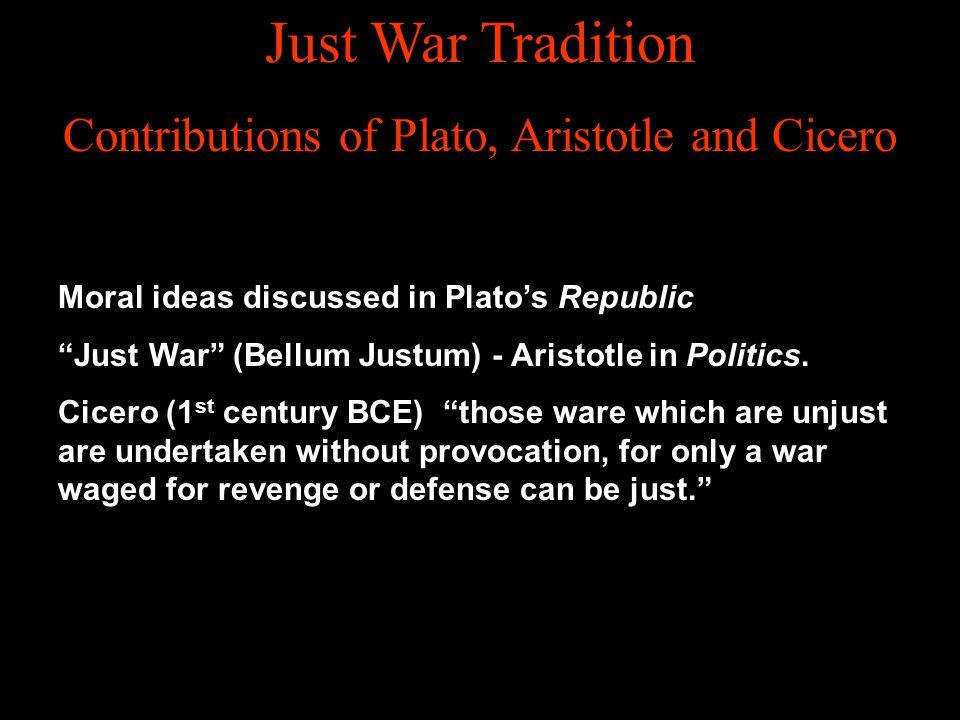 Contributions of Plato, Aristotle and Cicero