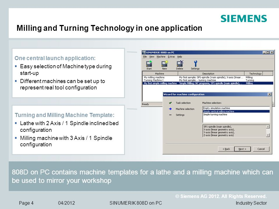 Milling and Turning Technology in one application