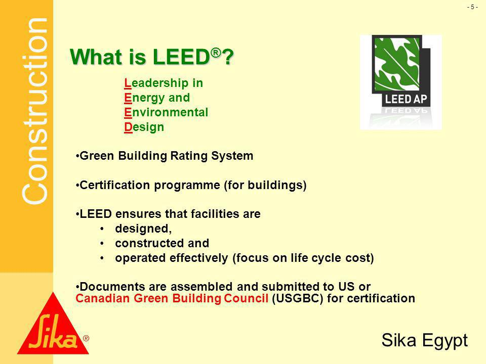 Us green building council usgbc ppt download for What is leed