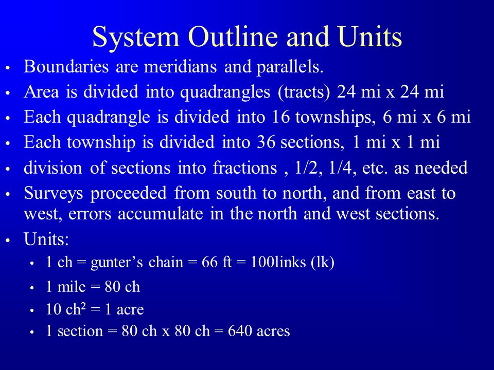 System Outline and Units