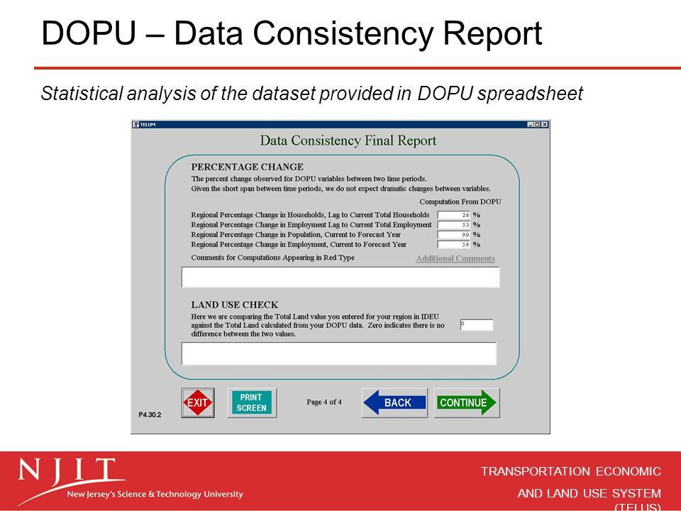 DOPU – Data Consistency Report