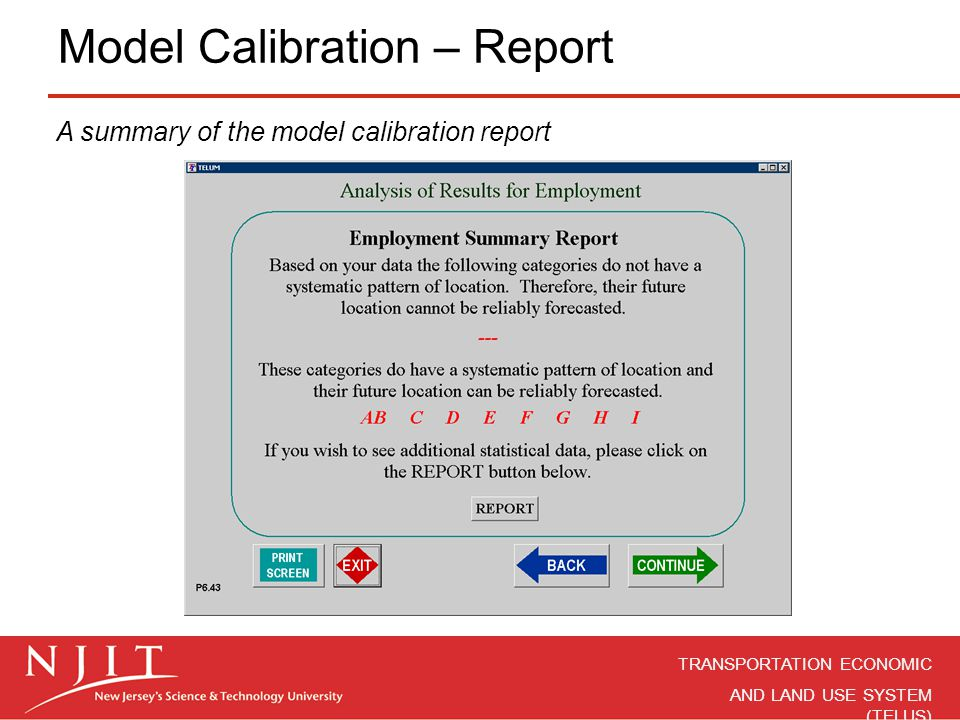 Model Calibration – Report