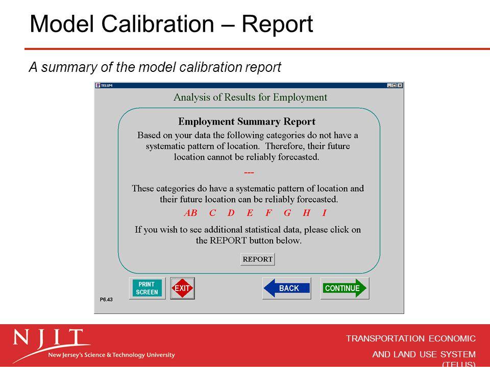 Model Calibration – Report