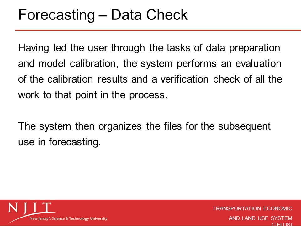 Forecasting – Data Check