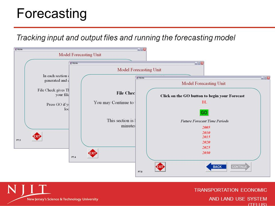 Forecasting Tracking input and output files and running the forecasting model