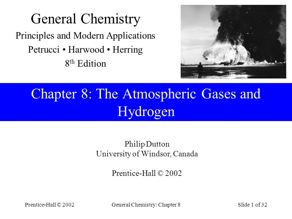 Chapter 8: The Atmospheric Gases and Hydrogen