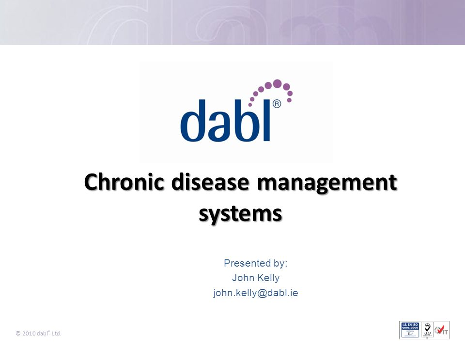 Chronic disease management systems