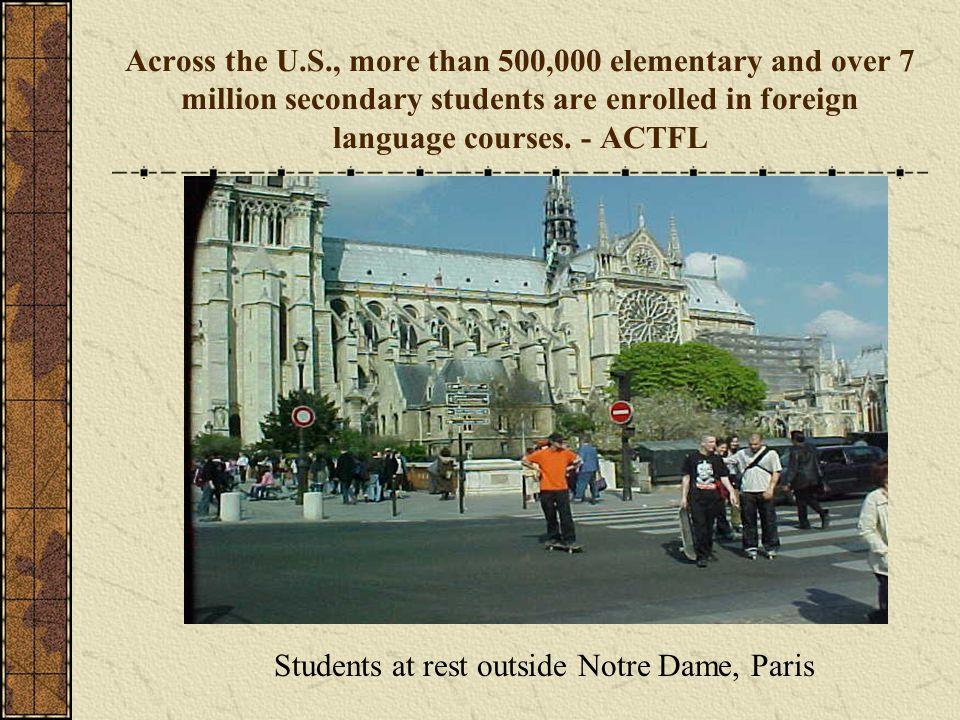 Students at rest outside Notre Dame, Paris