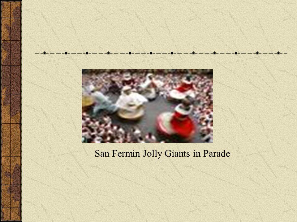 San Fermin Jolly Giants in Parade