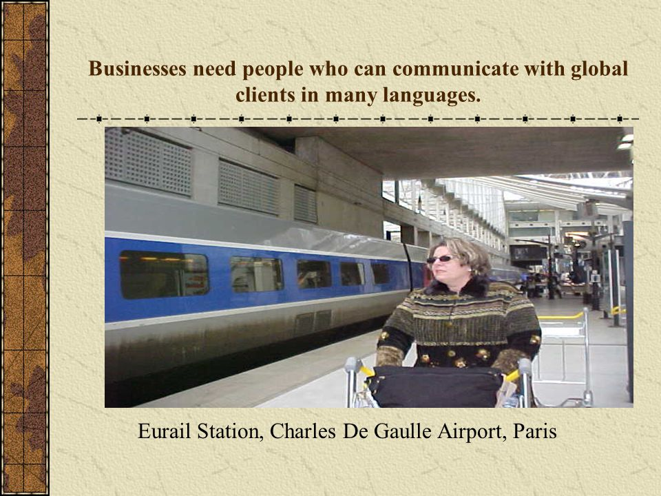 Eurail Station, Charles De Gaulle Airport, Paris