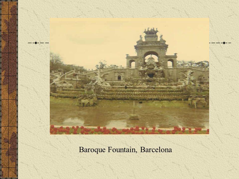 Baroque Fountain, Barcelona