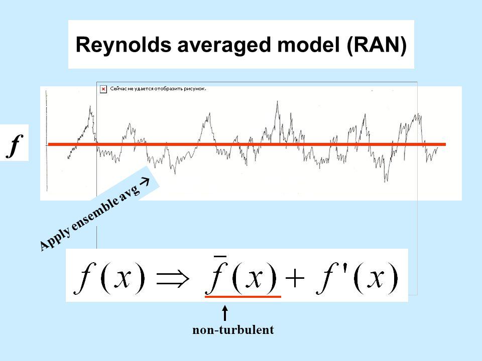 Reynolds averaged model (RAN)