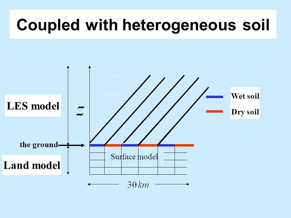 Coupled with heterogeneous soil