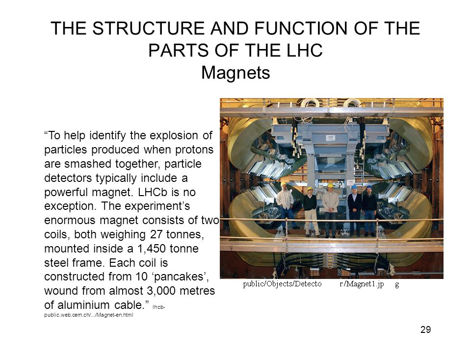 THE STRUCTURE AND FUNCTION OF THE PARTS OF THE LHC Magnets