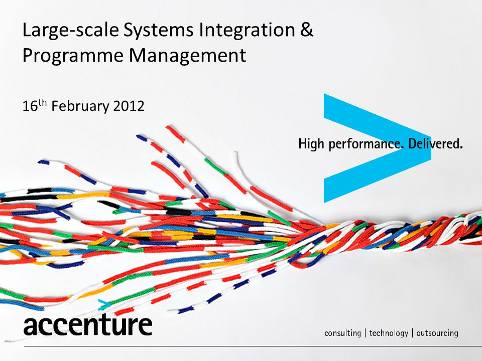 Large-scale Systems Integration & Programme Management