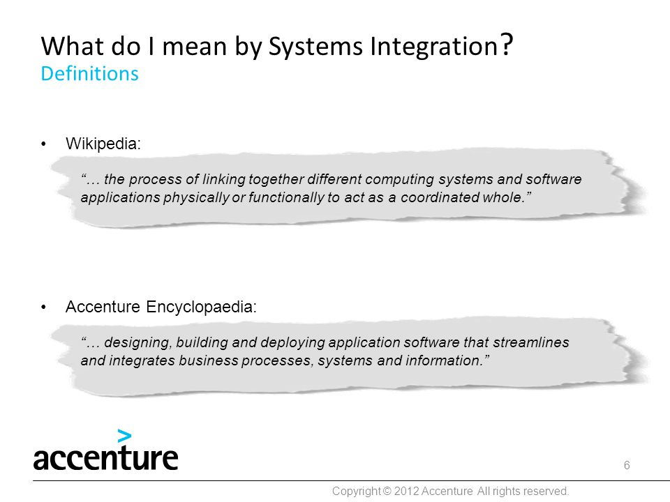 What do I mean by Systems Integration