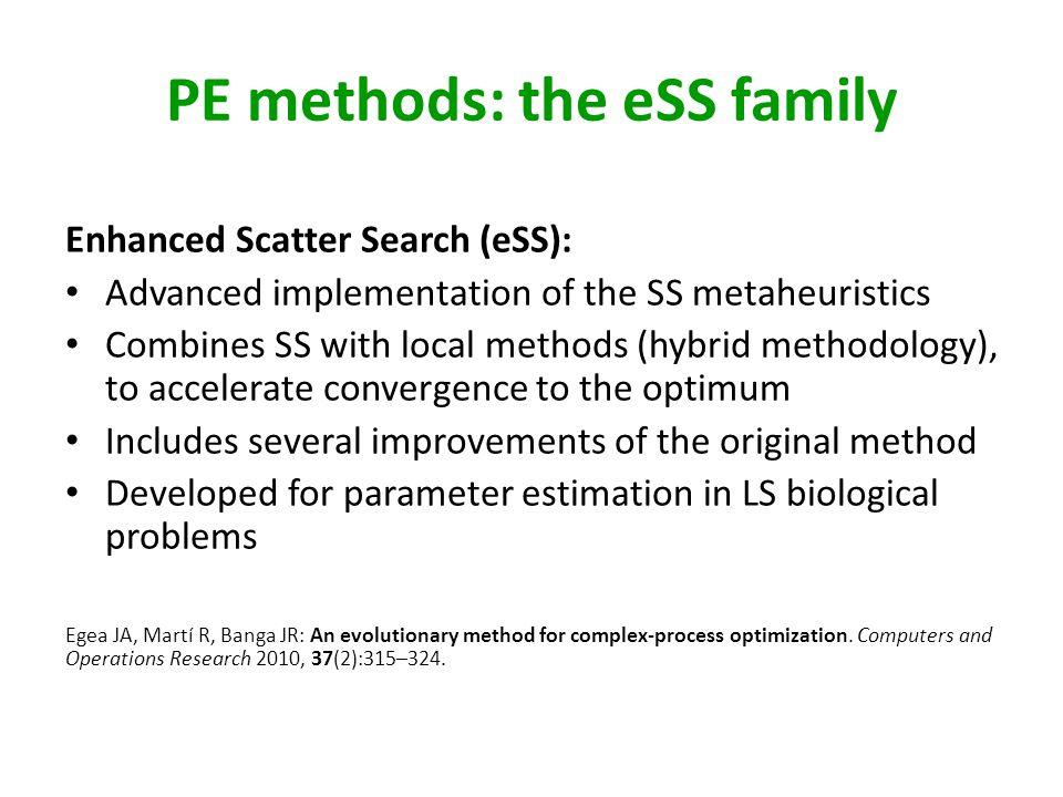PE methods: the eSS family