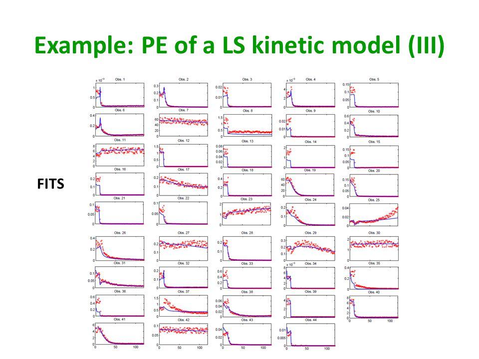 Example: PE of a LS kinetic model (III)